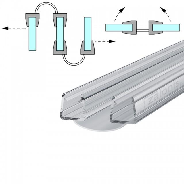 BI FOLD SHOWER SEAL FOR 8-10mm GLASS